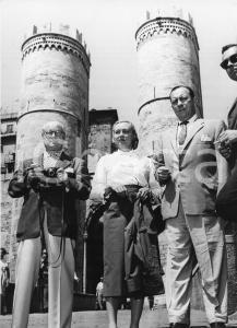 1955 GENOVA Visita di Robert WAGNER sindaco di New York - Foto vintage 18x24 cm