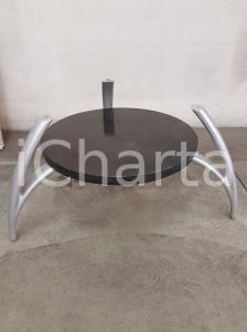 1970 VINTAGE Base tavolo con ripiano intermedio tassellato in marmo