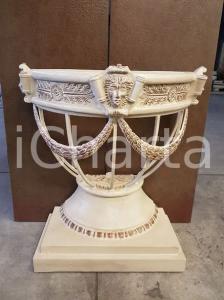 1970 VINTAGE Consolle stile Impero con base appoggio vaso cm 72x79x38