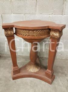 1970 VINTAGE Base rotonda per tavolino marrone