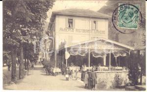 1913 LAVENO MOMBELLO Albergo Ristorante LAVENO - Cartolina ANIMATA bambini RARA