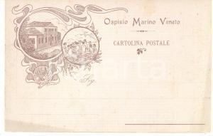 1905 ca VENEZIA LIDO Ospizio Marino Veneto - Cartolina illustrata T.SCARPA FP