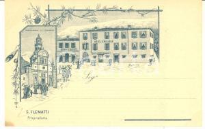 1900 ca MADONNA DI TIRANO Hotel S. MICHELE - Cartolina illustrata BALLARIN  FP