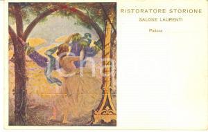 1915 ca PADOVA Hotel STORIONE - Salone LAURENTI - Cartolina illustrata FP NV