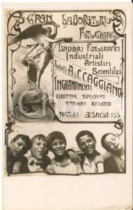 1920 ca NAPOLI Fratelli A & C. CAGGIANO - Laboratorio fotografico *Fotocartolina