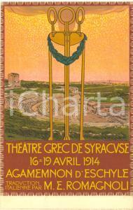 1914 SIRACUSA Teatro Greco - Agamennone di Eschilo - Cartolina illustrata FP NV