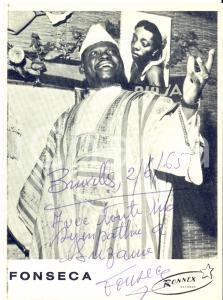 1965 BRUXELLES - FONSECA ET SES ANGES NOIRS - AUTOGRAFO su foto seriale 11x15 cm