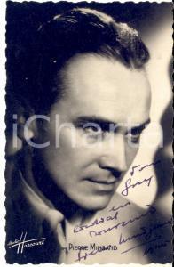 1945 Cantante Pierre MINGAND - AUTOGRAFO su foto seriale HARCOURT 9x14 cm