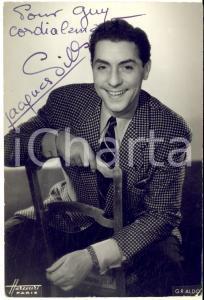1946 Cantante Jacques PILLS - AUTOGRAFO su foto seriale HARCOURT - 10x15 cm