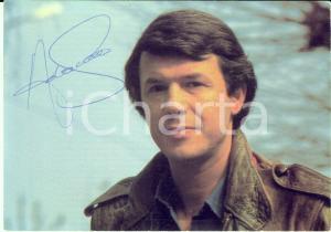 1970 ca BELGIO Cantante Salvatore ADAMO - AUTOGRAFO su foto seriale 15x10 cm