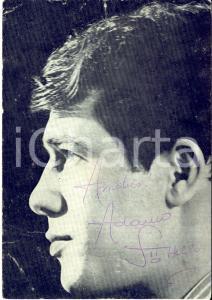 1970 ca BELGIO Cantante Salvatore ADAMO - AUTOGRAFO su foto seriale EMI 10x15 cm