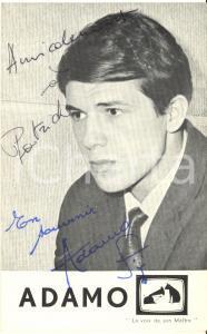 1963 BELGIO Cantante Salvatore ADAMO - AUTOGRAFO su foto seriale 8x13 cm