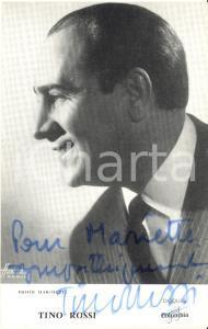 1961 Cantante Tino ROSSI - AUTOGRAFO su foto seriale COLUMBIA 9x14 cm
