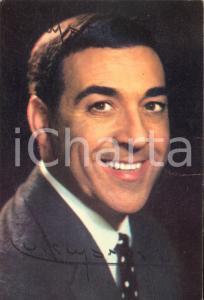 1965 ca Cantante Luis MARIANO - AUTOGRAFO su foto seriale EMI 10x15 cm