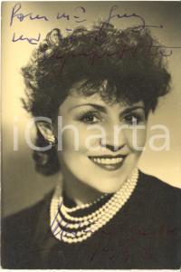 1946 Cantante Marie DUBAS - AUTOGRAFO su foto seriale 10x15 cm