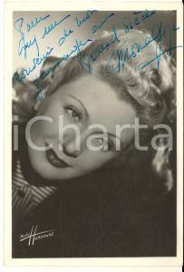 1946 BRUXELLES Attrice Mona GOYA - AUTOGRAFO su foto seriale HARCOURT 10x15 cm