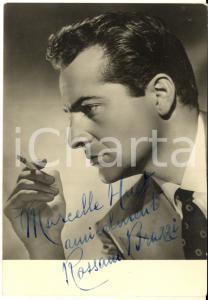 1950 ca CINEMA Attore Rossano BRAZZI - AUTOGRAFO su foto seriale 10x15 cm