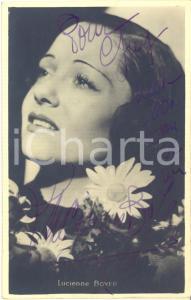 1946 Cantante Lucienne BOYER - AUTOGRAFO su foto seriale 9x14 cm
