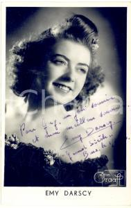 1946 BRUXELLES Emy DARSCY - AUTOGRAFO su foto seriale GRAAFF 9x14 cm