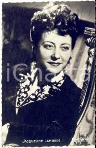 1946 BRUXELLES Jacqueline LAMBERT - AUTOGRAFO su foto seriale CARLET 9x14 cm