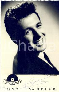 1960 ca Cantante Tony SANDLER - AUTOGRAFO su foto seriale POLYDOR 9x14 cm