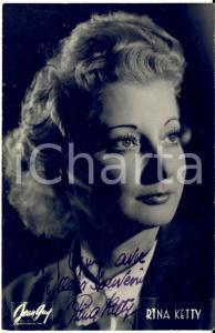 1946 Cantante Rina KETTY - AUTOGRAFO su foto seriale Jean GUY 9x14 cm