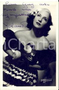 1946 BRUXELLES Cantante YOLANDA - AUTOGRAFO su foto seriale HARCOURT 10x15 cm