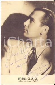 1945 ca Cantante Daniel CLERICE - AUTOGRAFO su fotocartolina seriale 9x14 cm