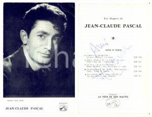 1945 ca Cantante Jean-Claude PASCAL - AUTOGRAFO su fotocartolina seriale 9x14 cm