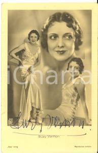 1940 ca Attrice Suzy VERNON - AUTOGRAFO su fotocartolina seriale 9x14 cm