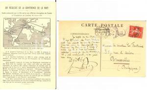 1909 NEUILLY-SUR-SEINE Frédéric PASSY au sénateur LA FONTAINE - Carte AUTOGRAPHE