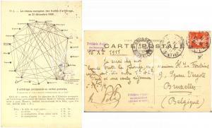 1911 NEUILLY-SUR-SEINE Frédéric PASSY au sénateur LA FONTAINE - Carte AUTOGRAPHE