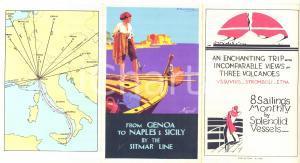 1930 SITMAR LINES Genoa-Naples-Sicily - Vintage brochure RARE ill. MALUGANI