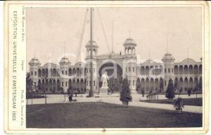 1883 AMSTERDAM Exposition Universelle - Photo vintage BERNARD et Cie 17x11 cm