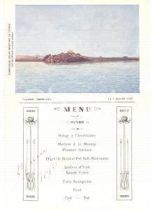 1922 Compagnie Belge Maritime du CONGO Paquebot ANVERSVILLE *Menu diner vintage