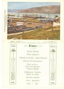 1921 Compagnie Belge Maritime du CONGO - Paquebot ANVERSVILLE - Menu diner