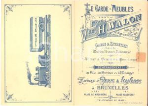 1910 ca BRUXELLES Garde-Meubles Veuve Charles WALON - Tarif publicitaire