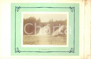 1910 ca COO (BELGIO) Veduta delle cascate - Fotografia VINTAGE 23x15 cm