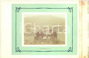 1910 ca COO (BELGIO) Rinfresco tra escursionisti - Fotografia VINTAGE 23x15 cm