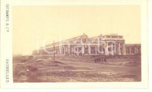 1870 ca BRUXELLES La nouvelle Gare du Midi - RARE Photo CDV DECHAMPS
