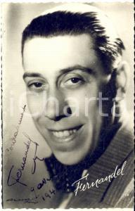 1940 CINEMA - FERNANDEL - Foto seriale con AUTOGRAFO - Foto 9x13 cm