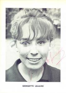 1970 ca Cantante Georgette LEMAIRE - Foto seriale con AUTOGRAFO - Foto 23x30 cm