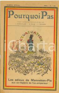 1918 WW1 POURQUOI PAS Les adieux de Manneken-Pis - Numéro spécial hebdomadaire