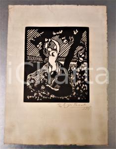 1915 Roger PARENT Adamo ed Eva - Stampa xilografia firmata n°16/20 24x34 cm