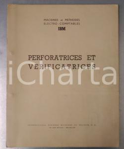 1960 ca IBM BRUXELLES Perforatrices et vérificatrices - Catalogue ILLUSTRE'