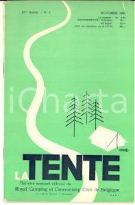 Novembre 1954 LA TENTE Caravan Belges au Rallye d'Innsbruck - Revue n° 9