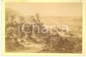 1870 ca HEIDELBERG (GERMANY) View with the castle - Vintage photo L. MEDER 17x11