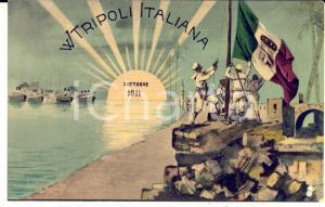1911 COLONIE LIBIA - W Tripoli italiana - Cartolina postale RARA FP NV