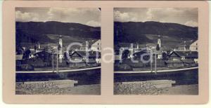 Agosto 1913 VILLABASSA / NIEDERDORF Veduta panoramica - Foto stereoscopica