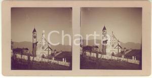 Agosto 1913 TIROLO (BZ) Chiesa di San Giovanni Battista - Foto stereoscopica